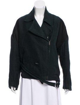 Ann Demeulemeester Pointed Zip Up Jacket by Ann Demeulemeester