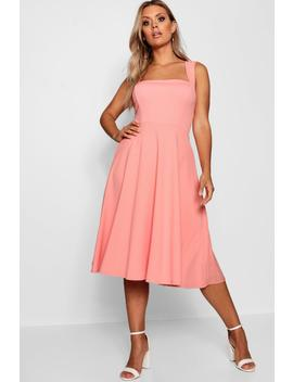 Plus Square Neck Midi Dress by Boohoo