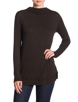 Cowl Neck Ribbed Top by Michael Stars