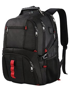 Extra Large Backpack,Tsa Friendly Durable Travel Computer Backpack Usb Charging Port/Headphones Hole Men&Women,Water Resistant Big Business College School Bookbag Fits 17 Inch Laptop&Notebook by Yorepek