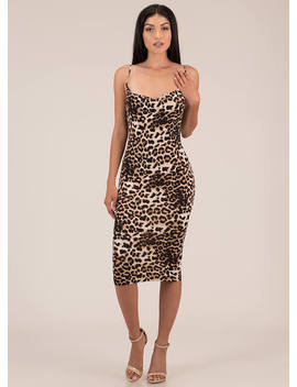Wild Queendom Leopard Midi Dress by Go Jane