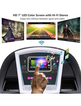 "Generic Lowest Price Ever! 3.0hp 7"" Wifi Color Touch Screen Folding Electric Treadmill by Generic"