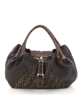 Pre Owned: Tortoise Spy Bag Zucca Canvas And Leather by Fendi