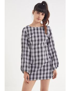 Finders Keepers Downtown Plaid Mini Dress by Finders Keepers
