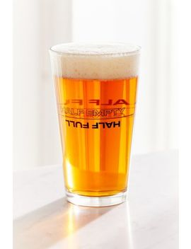 Half Full Pint Glass by Urban Outfitters