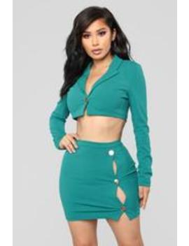 Better Than Love Set   Teal by Fashion Nova