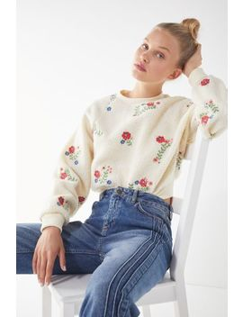 Uo Aster Cropped Sweatshirt by Urban Outfitters