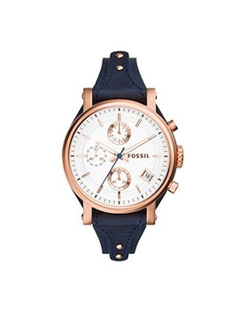Fossil Original Boyfriend Chronograph Leather Watch by Fossil
