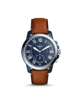 Refurbished Hybrid Smartwatch   Q Grant Luggage Leather by Fossil