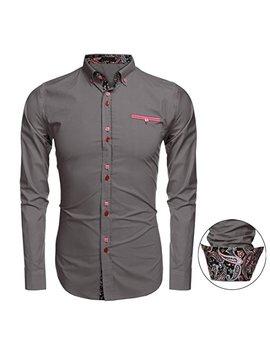Jingjing1 Men Button Down Shirt, Casual Long Sleeve Formal Dress Shirts Slim Fit Fashion Tops by Jingjing1