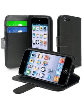 Insten Leather Wallet Case With Card Holder For Apple I Pod Touch 6 6th 5 5th Gen, Black by Insten
