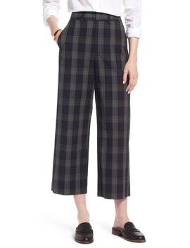 Plaid Wide Leg Crop Pants by 1901