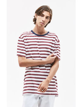 Red & Blue Stripe T Shirt by Pac Sun