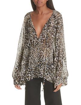Acadia Leopard Print Silk Blouse by Nili Lotan