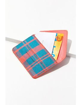 Plaid Envelope Wallet by Urban Outfitters