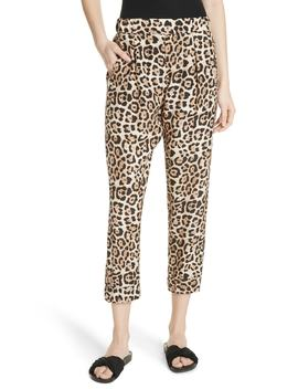 Leopard Print Silk Pants by Atm Anthony Thomas Melillo
