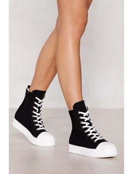 Sneak Off Boot Sneaker by Nasty Gal
