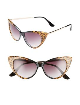 62mm Leopard Print Cat Eye Sunglasses by Glance Eyewear