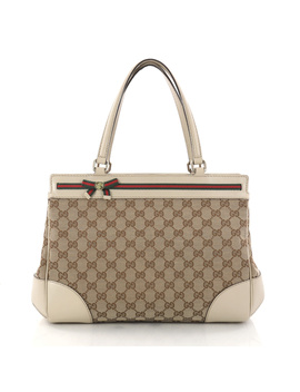 Pre Owned: Mayfair Satchel Gg Canvas Medium by Gucci