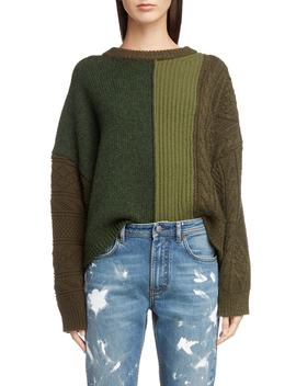 Vertical Stripe Wool Sweater by Acne Studios