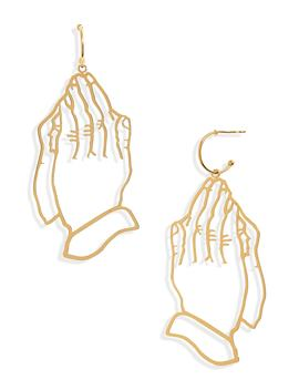 Hands Statement Earrings by Simone Rocha