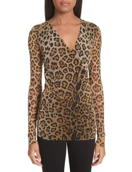 Leopard Print Tulle Top by Fuzzi