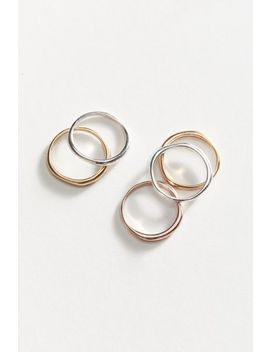 Modern Metal Stacking Ring Set by Urban Outfitters