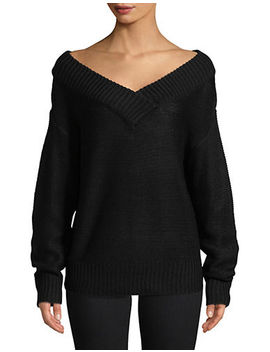 Ribbed V Neck Sweater by Design Lab Lord & Taylor