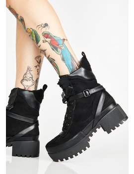 Wicked Decline Platform Boots by Lamoda