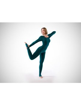 Sarasvati. Emerald Yoga Unitard. Woman Yoga Suit. Bodysuit. Catsuit. Jumpsuit. Activewear. Fitness Suit. Yoga Clothing. Yoga Wear. Overall by Y8 Yoga Clothes