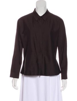 Jil Sander Long Sleeve Zip Top by Jil Sander