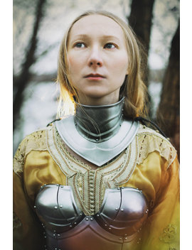 Steel Gorget Of Female Armor Queen Of The Lake /Larp Fantasy Protection/Metal Armor/Female/Steel Gorget/Handcrafted Custom by Iron Woods Shop