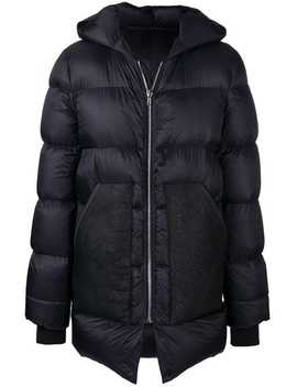 Rick Owenspuffer Midi Coathome Men Rick Owens Clothing Down Coats by Rick Owens