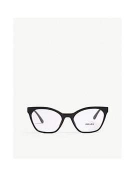 Pr09 Uv Cat Eye Frame Glasses by Prada