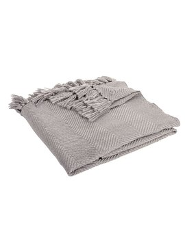 Wilko Shimmer Knit Throw Grey 150 X 180cm by Wilko