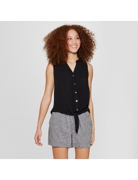 Women's Sleeveless Button Down Tie Front Top   A New Day™ by Shop All A New Day™