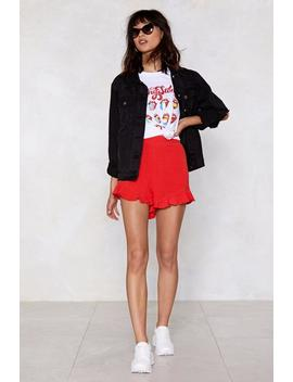 At A Loose End Ruffle Shorts by Nasty Gal