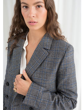 Wool Blend Plaid Blazer by & Other Stories