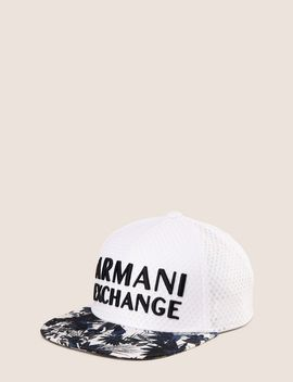 Tropical Floral Embroidered Hat by Armani Exchange