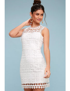 Pay Tribute White Crochet Lace Dress by Lulu's