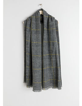 Wool Plaid Scarf by & Other Stories