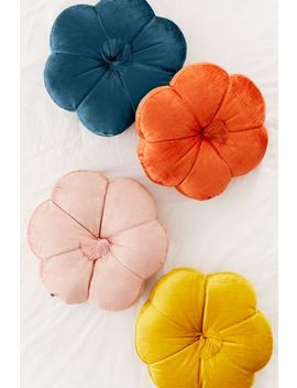 Leela Velvet Flower Throw Pillow by Urban Outfitters