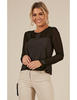 Important Case Top In Black by Showpo Fashion