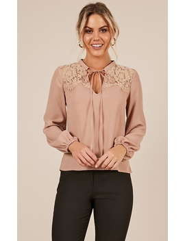 Shiny Memories Top In Mocha by Showpo Fashion