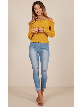 Strange Magic Knit Top In Mustard by Showpo Fashion