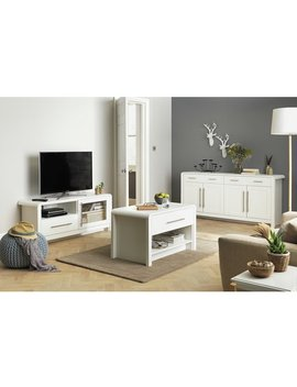 Argos Home Elford 1 Drawer Coffee Table   White by Argos