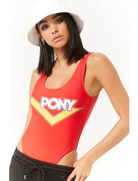 Pony One Piece Swimsuit by Forever 21