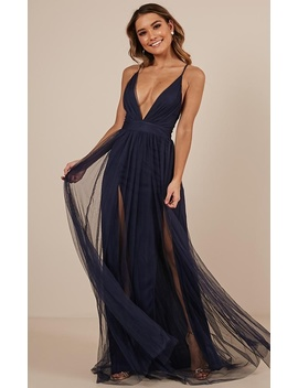 Celebrate Tonight Maxi Dress In Navy by Showpo Fashion