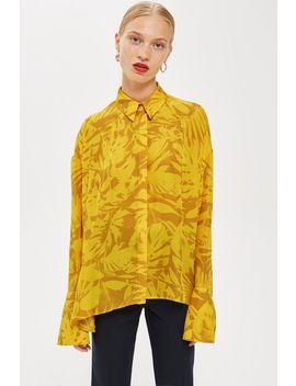 **Chiffon Palm Print Shirt By Boutique by Topshop