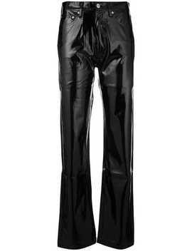 Calvin Klein Jeansstraight Leg Trousershome Women Calvin Klein Jeans Clothing Straight Leg Pantsvinyl Panelled Sweatshirtstraight Leg Trousers by Calvin Klein Jeans